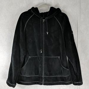 Kristen Blake Black Full Zip Hooded Jacket XL